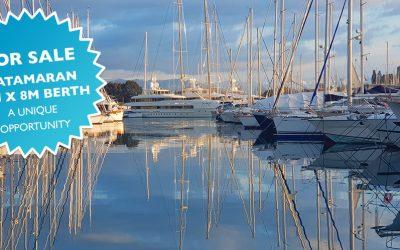 23m x 8m Catamaran Berth Available